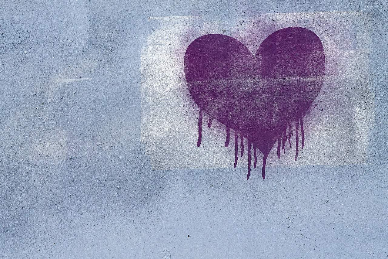 graffiti on wall showing heart shape