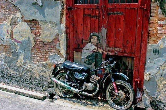 motorcycle painting art