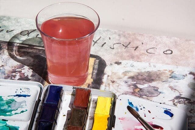 water color paint mixing