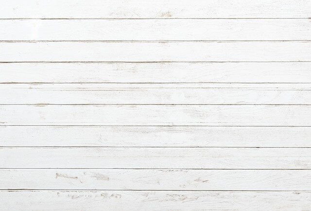 wooden wall painted in white